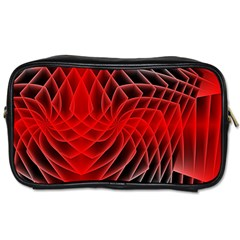 Abstract Red Art Background Digital Toiletries Bags