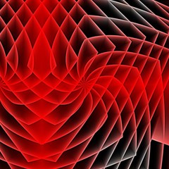Abstract Red Art Background Digital Magic Photo Cubes by Nexatart