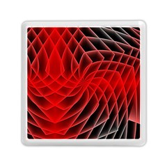 Abstract Red Art Background Digital Memory Card Reader (square)