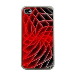 Abstract Red Art Background Digital Apple Iphone 4 Case (clear)