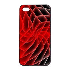 Abstract Red Art Background Digital Apple Iphone 4/4s Seamless Case (black)