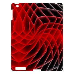 Abstract Red Art Background Digital Apple Ipad 3/4 Hardshell Case