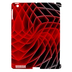 Abstract Red Art Background Digital Apple Ipad 3/4 Hardshell Case (compatible With Smart Cover)