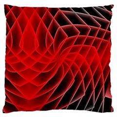 Abstract Red Art Background Digital Large Cushion Case (one Side)