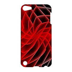 Abstract Red Art Background Digital Apple Ipod Touch 5 Hardshell Case