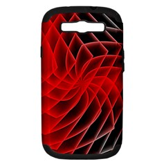 Abstract Red Art Background Digital Samsung Galaxy S Iii Hardshell Case (pc+silicone)