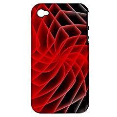 Abstract Red Art Background Digital Apple Iphone 4/4s Hardshell Case (pc+silicone)
