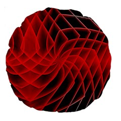 Abstract Red Art Background Digital Large 18  Premium Round Cushions by Nexatart