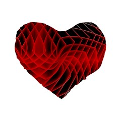 Abstract Red Art Background Digital Standard 16  Premium Heart Shape Cushions