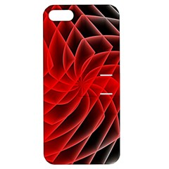 Abstract Red Art Background Digital Apple Iphone 5 Hardshell Case With Stand
