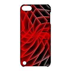 Abstract Red Art Background Digital Apple Ipod Touch 5 Hardshell Case With Stand