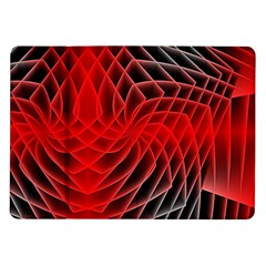 Abstract Red Art Background Digital Samsung Galaxy Tab 10 1  P7500 Flip Case