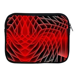 Abstract Red Art Background Digital Apple Ipad 2/3/4 Zipper Cases