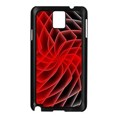Abstract Red Art Background Digital Samsung Galaxy Note 3 N9005 Case (black)