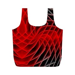 Abstract Red Art Background Digital Full Print Recycle Bags (m)