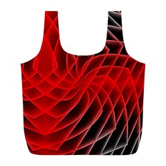 Abstract Red Art Background Digital Full Print Recycle Bags (l)