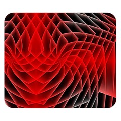 Abstract Red Art Background Digital Double Sided Flano Blanket (small)