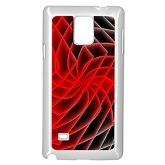 Abstract Red Art Background Digital Samsung Galaxy Note 4 Case (white)