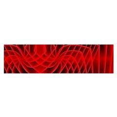Abstract Red Art Background Digital Satin Scarf (oblong)