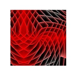 Abstract Red Art Background Digital Small Satin Scarf (square)
