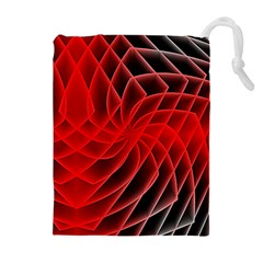 Abstract Red Art Background Digital Drawstring Pouches (extra Large)