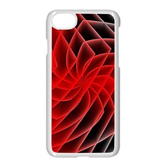 Abstract Red Art Background Digital Apple Iphone 7 Seamless Case (white)