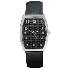 Background Weaving Black Metal Barrel Style Metal Watch