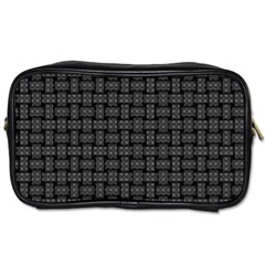 Background Weaving Black Metal Toiletries Bags