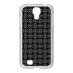 Background Weaving Black Metal Samsung Galaxy S4 I9500/ I9505 Case (white)