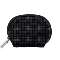 Background Weaving Black Metal Accessory Pouches (small)