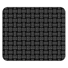 Background Weaving Black Metal Double Sided Flano Blanket (small)