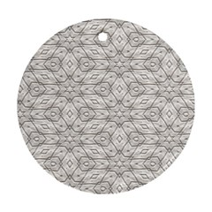 Background Wall Stone Carved White Ornament (round)