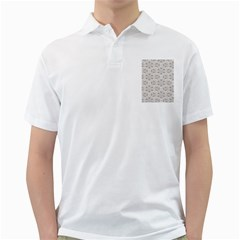 Background Wall Stone Carved White Golf Shirts
