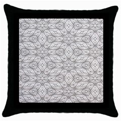Background Wall Stone Carved White Throw Pillow Case (black)
