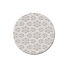 Background Wall Stone Carved White Magnet 3  (round)