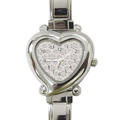 Background Wall Stone Carved White Heart Italian Charm Watch