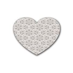 Background Wall Stone Carved White Heart Coaster (4 Pack)