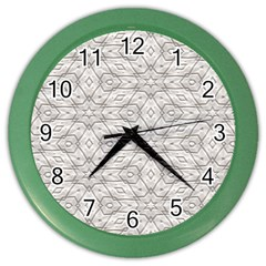 Background Wall Stone Carved White Color Wall Clocks
