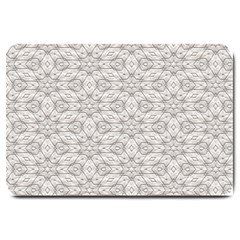 Background Wall Stone Carved White Large Doormat