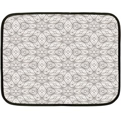 Background Wall Stone Carved White Double Sided Fleece Blanket (mini)
