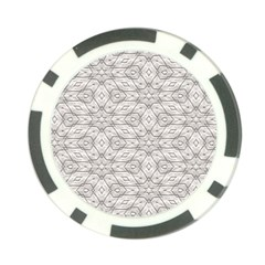 Background Wall Stone Carved White Poker Chip Card Guard (10 Pack)