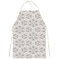 Background Wall Stone Carved White Full Print Aprons