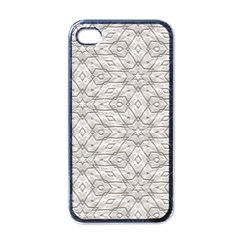 Background Wall Stone Carved White Apple Iphone 4 Case (black)