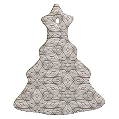 Background Wall Stone Carved White Christmas Tree Ornament (two Sides)