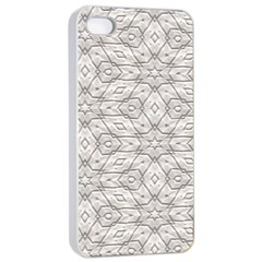 Background Wall Stone Carved White Apple Iphone 4/4s Seamless Case (white)