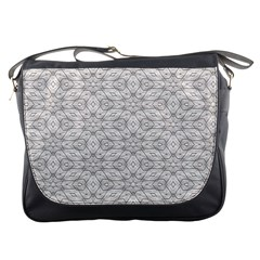 Background Wall Stone Carved White Messenger Bags