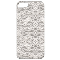 Background Wall Stone Carved White Apple Iphone 5 Classic Hardshell Case