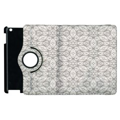 Background Wall Stone Carved White Apple Ipad 3/4 Flip 360 Case