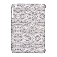 Background Wall Stone Carved White Apple Ipad Mini Hardshell Case (compatible With Smart Cover)