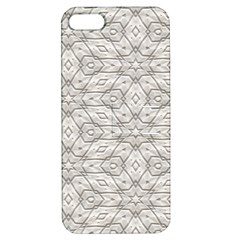 Background Wall Stone Carved White Apple Iphone 5 Hardshell Case With Stand
